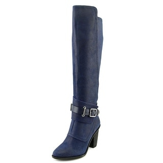 Fergie Dune Pointed Toe Leather Knee High Boot
