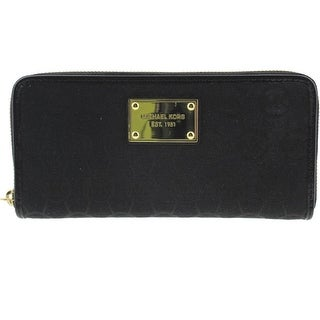 Michael Kors Womens Jacquard Zip Around Clutch Wallet