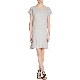 VELVET BY GRAHAM & SPENCER Womens T-Shirt Dress Slub Ruffle Hem