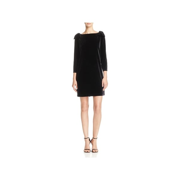 6d6c956cced French Connection Womens Nova Party Dress Three-Quarter Sleeves Above Knee.  Click to Zoom
