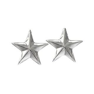 Vogt Western Cufflinks Mens Smooth Sterling Star Silver 028-110 - One size