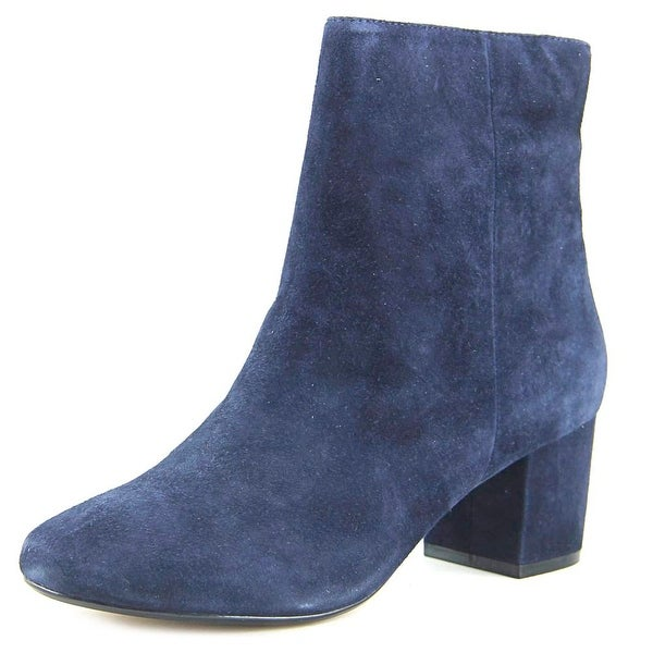 Dune London Pebbles Women Round Toe Suede Blue Ankle Boot