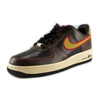 Nike Air Force 1 Men Round Toe Leather Brown Sneakers