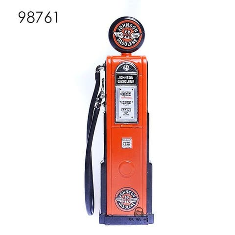 Road Signature Vintage Gas Pump Gasoline Round - Orange