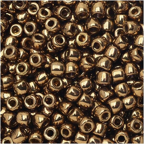 Czech Glass Matubo, 8/0 Seed Bead, 8 Gram Tube, Crystal Gold