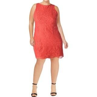 Lauren Ralph Lauren Womens Petites Toralina Wear to Work Dress Lace Sheath