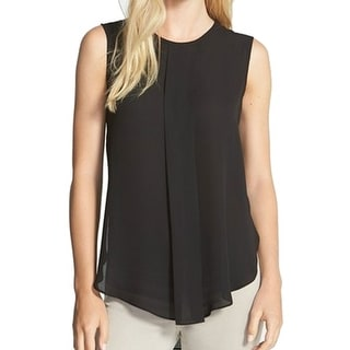Vince Camuto NEW Black Women's Size Small S Tank Cami Pleated Blouse