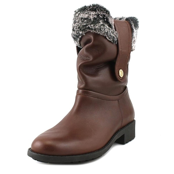 Cole Haan Breene Women Round Toe Leather Brown Winter Boot