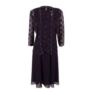 R&M Richards Women's 2PC Sequin Lace Dress Set - eggplant|https://ak1.ostkcdn.com/images/products/is/images/direct/ddb098cd92116ffbc4719568ca667acabfd1d263/R%26M-Richards-Women%27s-2PC-Sequin-Lace-Dress-Set.jpg?impolicy=medium