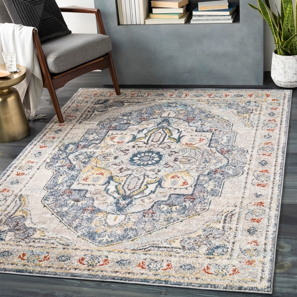 Ira Traditional Medallion Area Rug. Opens flyout.