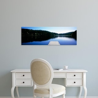 Easy Art Prints Panoramic Images's 'Pier on a lake, Black Forest, Baden