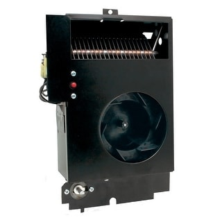 Cadet CM198T  Com-Pak Max 6485 BTU Electric Wall Heater Assembly with Thermostat - Black