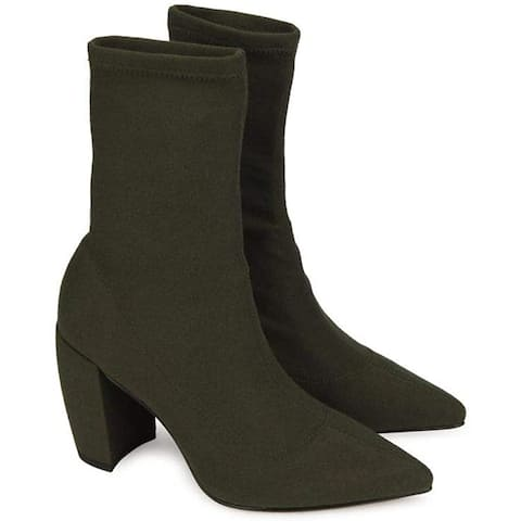Kenneth Cole New York Womens alora Suede Pointed Toe Ankle Fashion Boots