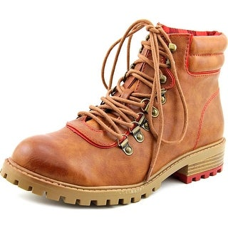 Mia Lance   Round Toe Synthetic  Boot