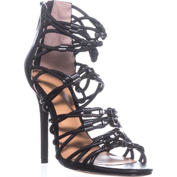 Halston Heritage Ania Strappy Sandals, Black - 6.5 us