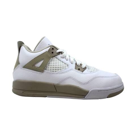 Nike Air Jordan IV 4 Retro GP White/Boarder Blue-Light Sand 487725-118 Pre-School