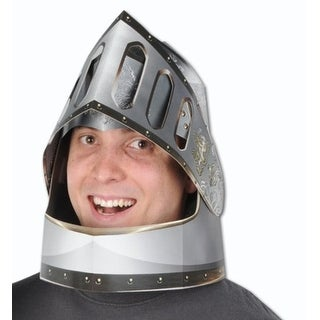 Club Pack of 12 Silver and Gold Double-Sided Knight's Helmets