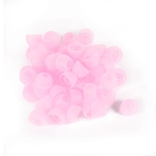 Unique Bargains Silicone in Ear Earphone Pad Earbud Cap Tip Cover Replacement Pink 50 Pcs