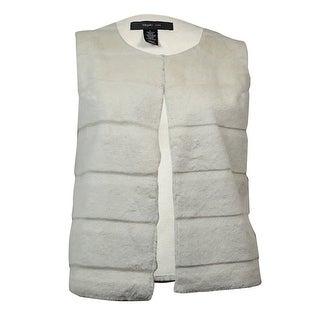 Style & Co. Women's Sleeveless Faux Fur Vest