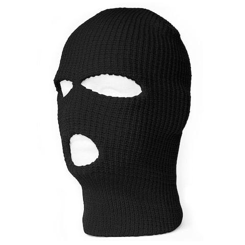 3 Hole Winter Ski Mask Balaclava - Black
