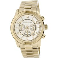 Michael Kors Men's Runway MK8077 Gold Stainless-Steel Quartz Fashion Watch