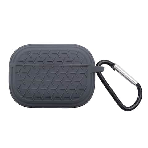 For Apple AirPods Pro Grey Gel Textured Case