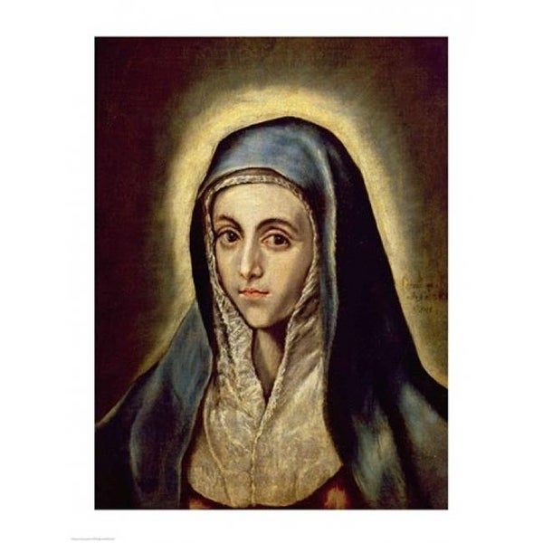f36bd92189c0a The Virgin Mary Poster Print by El Greco - 24 x 36 in. - Large