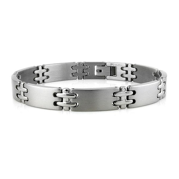 Titanium Double-Cross Bracelet - 8.5 inches