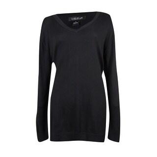 August Silk Women's V-neck Long Sleeve Sweater