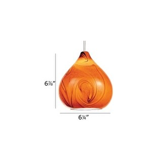 WAC Lighting G933 Replacement Glass Shade for 933 Pendant from the Truffle Collection - Amber