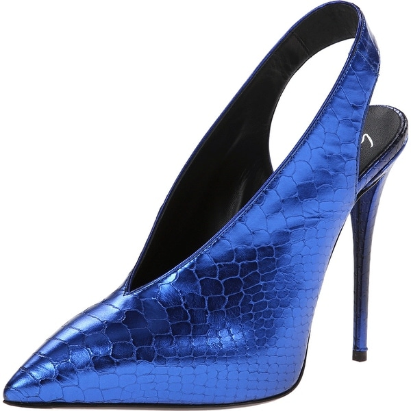 Giuseppe Zanotti NEW Blue Shoes Size 6M Slingbacks Leather Heels