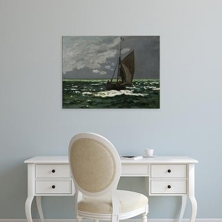 Easy Art Prints Claude Monet's 'CLK478889' Premium Canvas Art