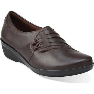 Clarks Women's Everlay Iris Shoe Brown Sheep Full Grain Leather