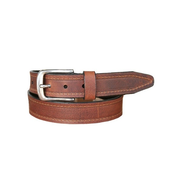 Vintage Bison Western Belt Mens Gettysburg Leather Saddle