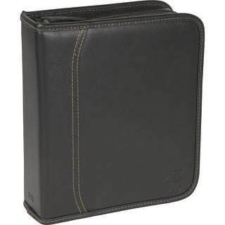 """Case Logic DVB-40 Case Logic DVD Album - 48 DVDs & 21 Title Notes - Binder - Slide Insert - Koskin, Faux Leather - Black - 48,"