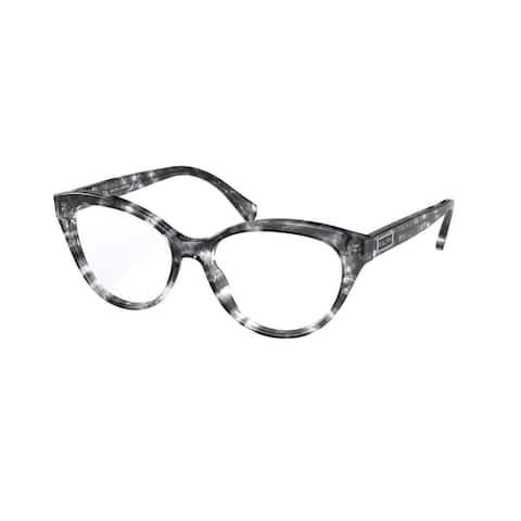 Ralph RA7116 5847 52 Shiny Spotted Grey Havana Woman Butterfly Eyeglasses