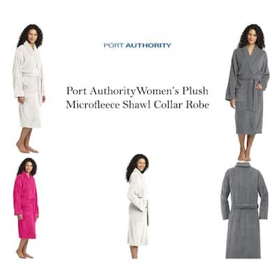 Port Authority Women's Plush Microfleece Shawl Collar Robe
