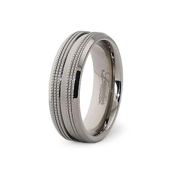 7mm Polished Titanium Ring (Sizes 7-12)