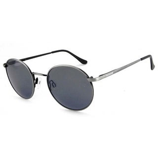 Peppers Polarized Sunglasses Lennon Antique Silver with Smoke Lens
