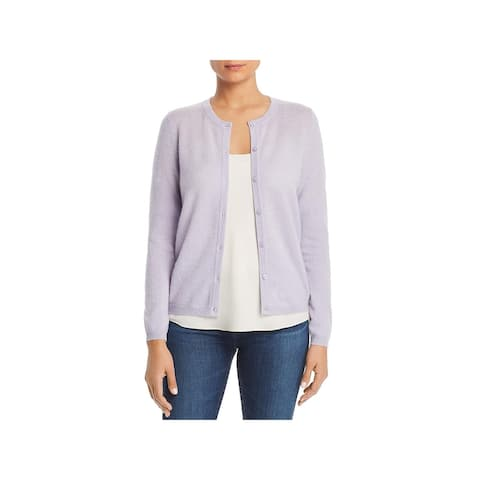 Private Label Womens Cardigan Sweater Button-Dwon Crewneck