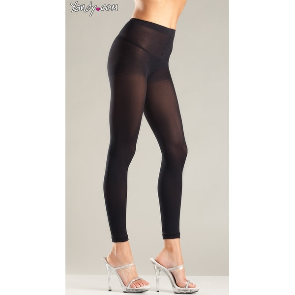 e986624d660d3 Shop Hoty Opaque Footless Tights, Black Footless Leggings - One Size Fits  Most - Free Shipping On Orders Over $45 - Overstock - 27738565