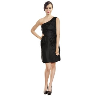 Phoebe Chic Silk Organza One Shoulder Cocktail Party Dress