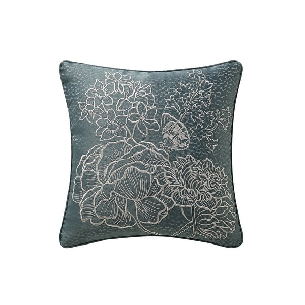Rose Tree Clarissa Embroidered Throw Pillow Overstock 31291651