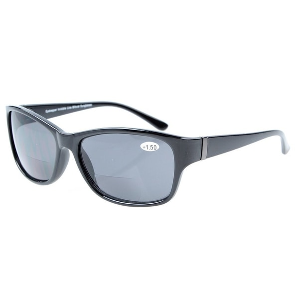 Eyekepper SunReaders Polarized Bifocal Sunglasses Black +1.5