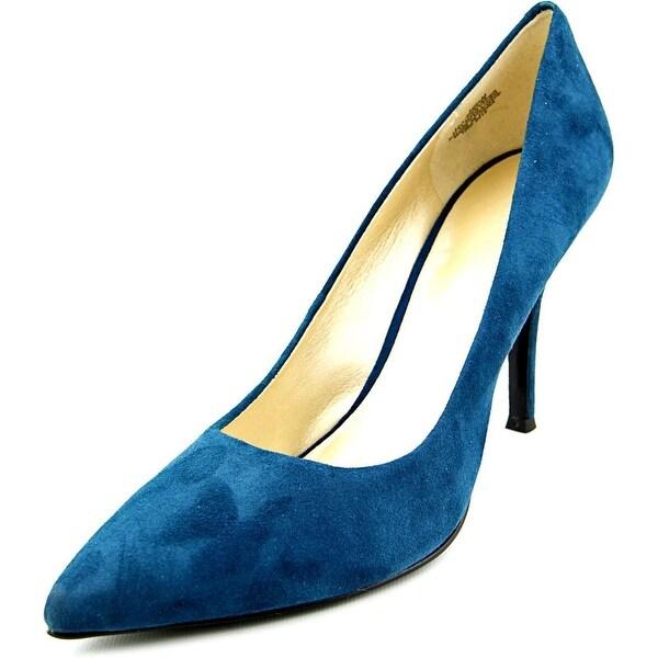 Nine West Flax Women Pointed Toe Suede Blue Heels
