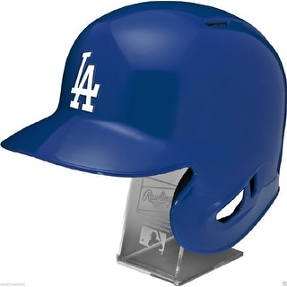 Los Angeles Dodgers Rawlings Full Size Batting Helmet - Left Ear Flap - with Display stand