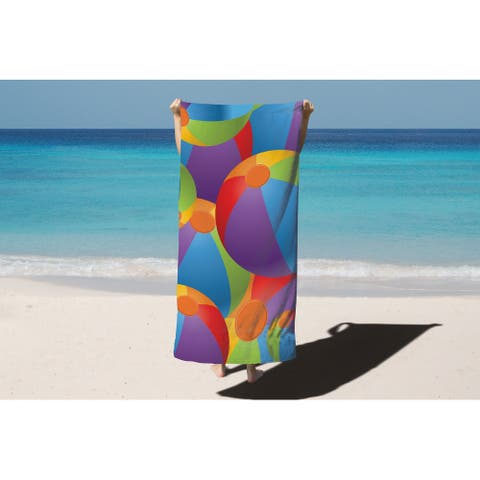 Arkwright 100% Cotton Velour Printed Beach Towel - Beach designs - 30 x 60 in