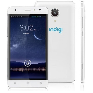 Indigi Unlocked 5in 4G Lte SmartPhone Android 6.0 Google Play AT&T T-Mobile Straightalk - White