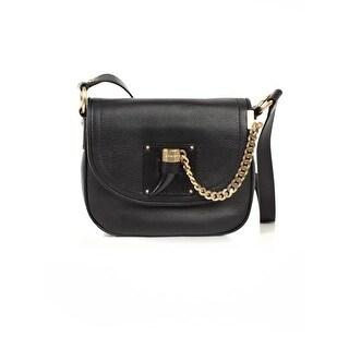 MICHAEL Michael Kors Womens James Saddle Handbag Leather Flap - Medium
