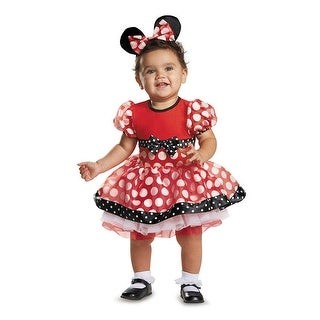 Infant Red Minnie Mouse Prestige Costume - 6-12 months